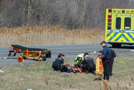 Accident majeur sur l'autoroute 20: un travailleur perd la vie (mise à jour)