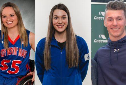 Cascades appuie trois athlètes-étudiants d'ici