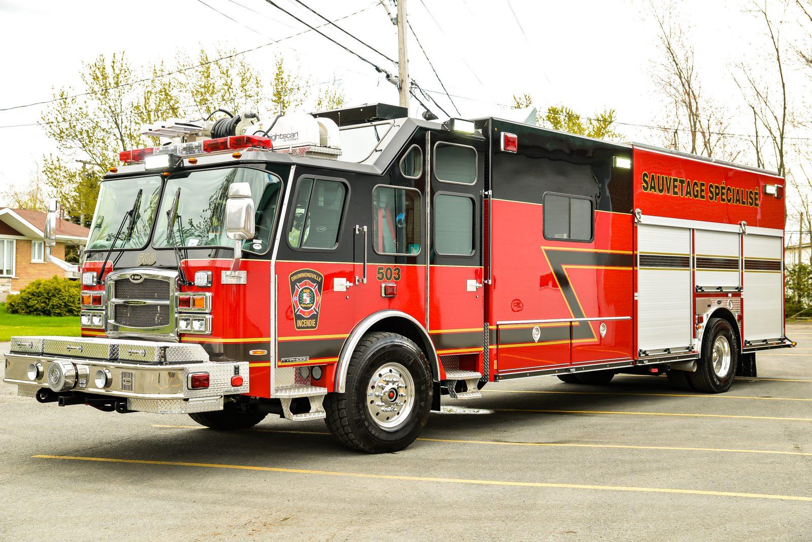 Un tout nouveau camion pour le Service de sécurité incendie et sécurité civile