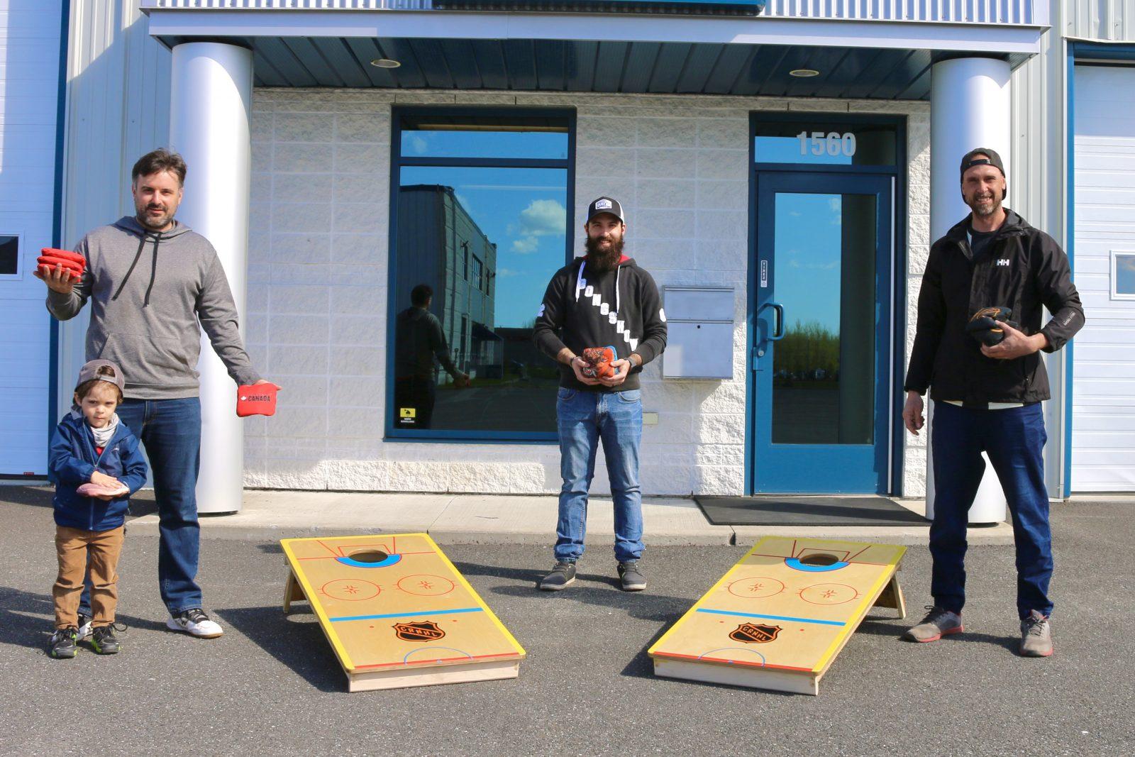 Deux Drummondvillois lancent la première ligue de cornhole du Québec
