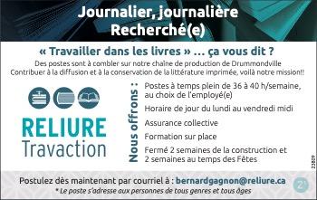 Journalier(ère) recherché(e)