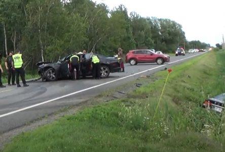 Violente collision à Saint-Cyrille