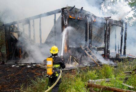 Un homme brûlé dans l'incendie de sa résidence