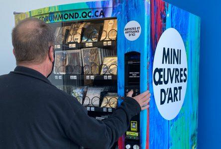 Un nouvel emplacement pour la distributrice d'œuvres d'art