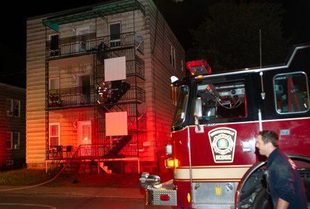 Incendie dans un triplex de la rue Saint-Lucien