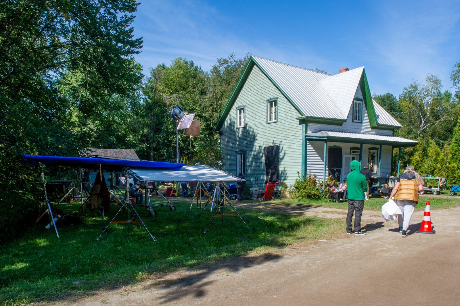 Le Village québécois d'antan se transforme en plateau de tournage