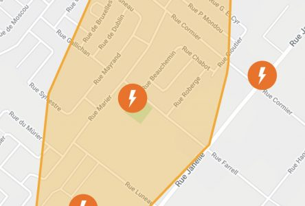 Panne d'électricité à Drummondville
