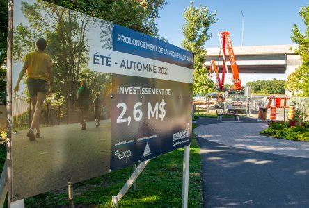 Promenade Rivia: la Ville demande de respecter la zone des travaux