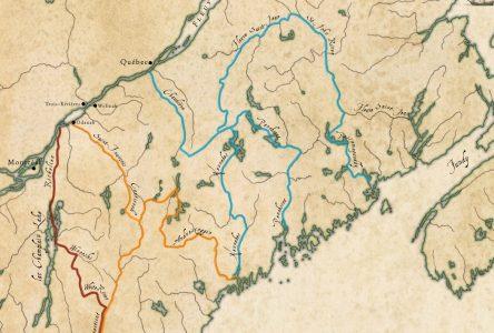L'arrivée des Abénakis à la rivière Saint-François