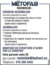 Logo de Soudeur assembleur / Journalier