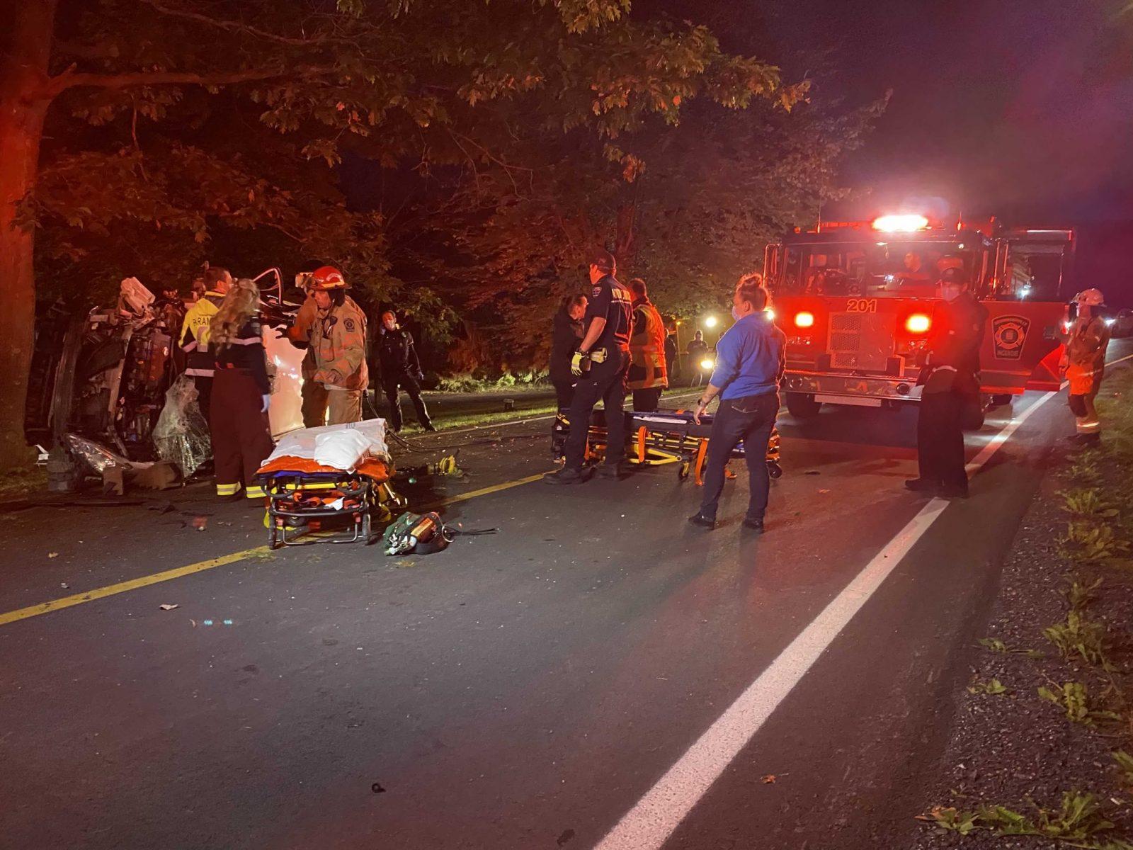 Un violente sortie de route coûte la vie à une femme sur le chemin Hemming