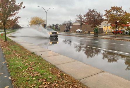 La pluie cause quelques désagréments à Drummondville
